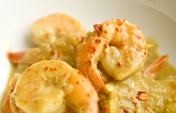 curry crevettes
